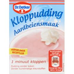 Dr. Oetker kloppudding aardbeiensmaak (Saroma) - 74 gram