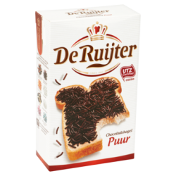 De Ruijter chocoladehagel puur - 380 gram